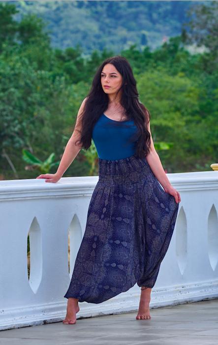 Silky Harem Pants - Thai Express Clothing